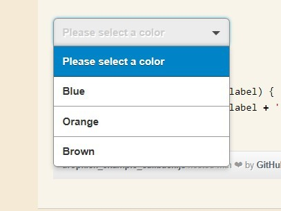Drop-Down-Select-List