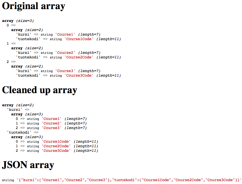 JavaScript Arrays