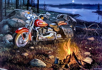 motorcycle jigsaw puzzle